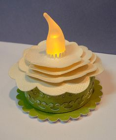Royal Things: March 2011 Very bottom of the page is a slide-show. So many great ideas Battery Operated Tea Lights, Light Cakes, Provo Craft, Candle Craft, Explosion Box, Tea Light Candles, Cool Gifts, Birthday Candles, Craft Blogs