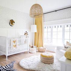 Jillian Harris Nursery - Home Design Inspiration Baby Room Decor, Nursery Room, Girl Nursery, Nursery Curtains, Baby Room Curtains, Yellow Nursery, Nursery Neutral, Gender Neutral Nurseries, Bright Nursery