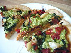 Green Goddess Garlic Pizza from Vegan with a Vengeance.