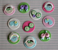 Fondant Spa Cupcake Toppers