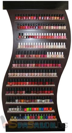 I'm going to figure out how to make this!    HD-14 nail polish rack @ SpaSalon.us