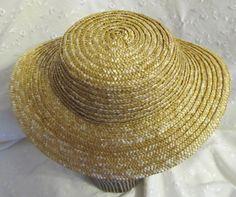 Fashionable 1860s Straw Hat - Civil War Era Hat