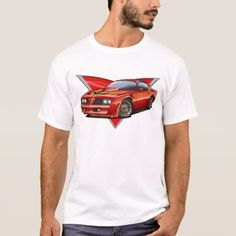Shop Trans Am Red Car T-Shirt created by maddmaxart. Personalize it with photos & text or purchase as is! Chevy Ssr, 1955 Chevy, Chevy Chevrolet, Chevy Trucks, Red Mustang, Mustang T Shirts, Shirt Template, Shirt Style, Fitness Models