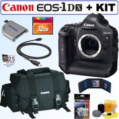 Canon EOS-1D X 18.1MP Full Frame CMOS Digital SLR Camera + Canon Gadget Bag + 32GB Accessory Kit by Canon. $6849.95. Canon has brought the best of the EOS-1D Series of digital cameras into one phenomenal model: the new flagship of the EOS line, the EOS-1D X*. Its full-frame 18.1 Megapixel CMOS sensor and all-new Dual DIGIC 5+ Image Processors deliver high quality image capture at up to 12 fps (14 fps in Super High Speed Mode) and a powerful ISO range of 100 - 51200 (up to 2...