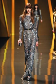 Elie Saab. Fall 2012. I love Ms. Kloss working those bangs in this amazing dress.