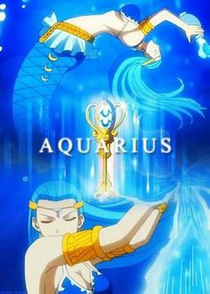 Lucy's celestial spirit and her best friend ...Aquarius is badass with a good heart