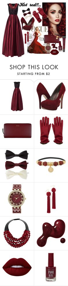 """Hot red!..❤️❤️"" by kornyy18 ❤ liked on Polyvore featuring Aidan Mattox, Michael Antonio, Paul Smith, Forever 21, Henri Bendel, Anne Klein, Vanessa Mooney, Fairchild Baldwin, Lime Crime and Lane Bryant"