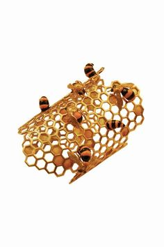 To Bee Or Not To Be Honeycomb Bracelet by Delfina Delettrez.  Will somebody buy this for me, please?