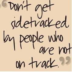 Don't let someone who's not qualified to coach you distract you from running your race! Stay focused and WIN!