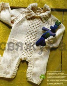 комбинезон для малыша спицами схема