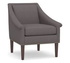 SoMa Valerie Upholstered Armchair | Pottery Barn Free Interior Design, Interior Design Services, Upholstered Arm Chair, Armchair, Home Furniture, Outdoor Furniture, Replacement Cushions, Mirror Art, Outdoor Dining