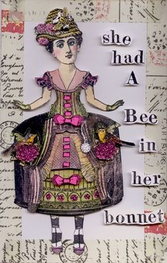 Nancy Gene Armstrong created this paper doll with Character Constructions art stamps