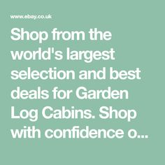 Shop from the world's largest selection and best deals for Garden Log Cabins. Shop with confidence on eBay!