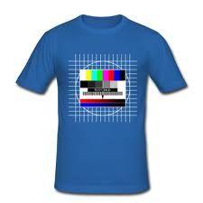Television testikuva on kiva tekstiileissä ja esineissä.