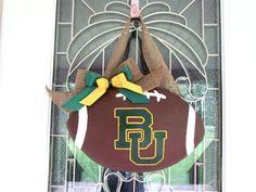 Baylor University Football Door Hanger on Etsy, $38.00