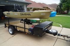 If you have a kayak and you've been thinking of building or buying a trailer, congratulations. We're in the same boat. I've got 4 kayaks, and I need a bet. Kayaking Gear, Kayak Camping, Canoe And Kayak, Kayak Fishing, Canoeing, Fishing Stuff, Saltwater Fishing, Fishing Tips, Fishing Boats