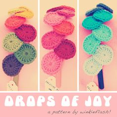 Free pattern on my blog! :) You can use these drops for all kinds of decoration; I used them to make my cascading drops headbands! :)