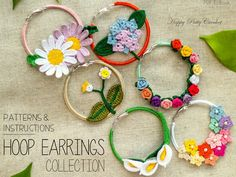 Hoop Earrings Pattern Collection  pd pattern $7.00