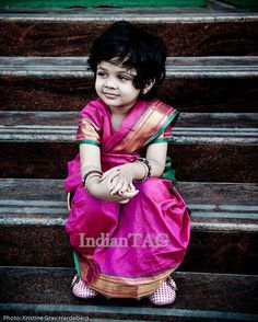 Little girl in Indian saree