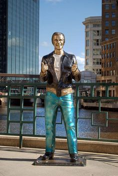 The Bronze Fonz, Milwaukee, WI, US