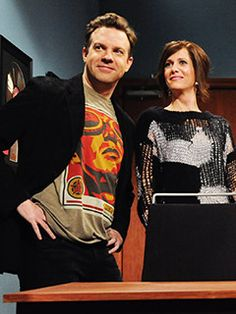 Jason Sudeikis and Kristen Wiig. I will be so sad to see them to leave SNL