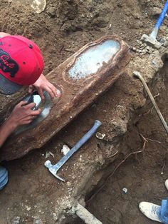The coffin of a little girl, found buried beneath a San Francisco home. Photo: Courtesy Of Elissa Davey