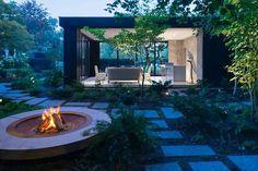 Garden pavilion, Fireplace, Toronto, Shawn Freeman Architect