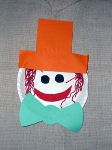 Paper plate face - Art u0026 Craft for Babies & Funny Paper Plate Faces - Craft for Toddlers.....all about me ...