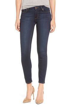 $189 - PAIGE 'Transcend - Verdugo' Ankle Ultra Skinny Jeans (Hartmann) (Nordstrom Exclusive)