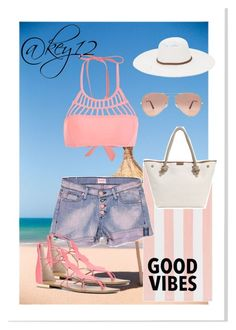 """""""Beach day🌞"""" by key12 ❤ liked on Polyvore featuring PBteen, Hudson Jeans, ALDO, Physician Endorsed, Ray-Ban and MICHAEL Michael Kors"""