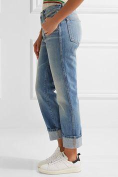 FRAME - Rigid Re-release Le High Straight-leg Jeans - Light denim