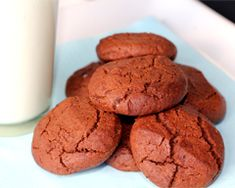 These chocolate biscuits can be whipped up from pantry ingredients. Add nuts for extra crunch. They are great to make as gifts.