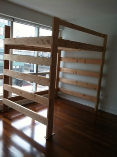 loft frame bed queen size