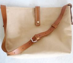 ottobags // canvas + leather love the simplicity.