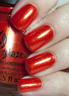 China Glaze #Riveting, #Orange Nailpolish