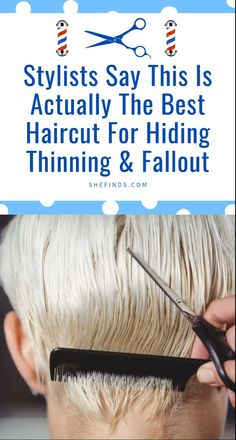Discover the one haircut you can get to hide thinning hair and fallout, only on SheFinds. First Haircut, Hair Falling Out, Healthy Hair Growth, Makeup Guide, Beauty Magazine, Cool Haircuts, Grow Hair, Fall Hair, Skin Makeup