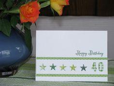 Karte zum 40sten Geburtstag, Birthday Card, Stampin' Up, Itty Bitty Punch