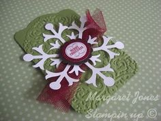 Christmas tag. Embossing!