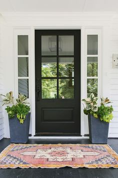 14 Front Door Colors to Boost Your Curb AppealFront Door Colors - Ideas For Glass Front Door Privacy Ideas For Glass Front Door Privacy Home home doorEnjoy a modern garden design with palisades Best Front Doors, Green Front Doors, Wood Front Doors, Painted Front Doors, Glass Front Door, Dark Grey Front Door, Colored Front Doors, Fromt Doors, Black Entry Doors