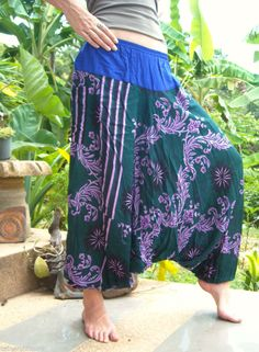 Cotton Floral Harem Trousers Aladdin Alibaba Gypsy Yoga Pants Hippie Hipster