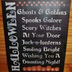 Primitive Halloween Sign decorations POEM Witches primitives witch samhain witchcraft Folk Art Pumpkins Ghosts Cats black cats plaques decor $24.30