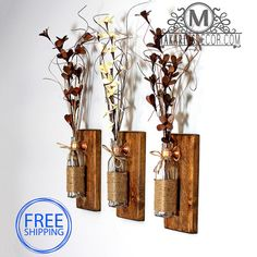 Shop Makarios Rustic Wall Sconces are beautifully hand-crafted from reclaimed wood. Our sconces will showcase a custom style to your home. Diy Home Decor Rustic, Shabby Chic Wall Decor, Rustic Kitchen Decor, Shabby Chic Kitchen, Shabby Chic Homes, Rustic Wall Decor, Country Decor, Country Homes, Farmhouse Decor