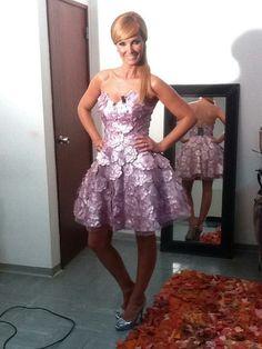 Cristina Ferreira, pink dress.
