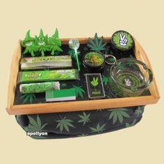 Stash Tray Set Weed Leaf Peace