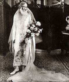 The governor's daughter's Cicely Winifred Goschen is pictured on her wedding day in 1924