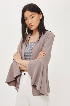 Waterfall Sleeve Blazer - Jackets & Coats - Clothing - Topshop USA