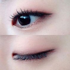 nice make up Monolid Eyes, Monolid Makeup, Asian Eye Makeup, Simple Eye Makeup, Natural Eye Makeup, Makeup Eyeshadow, Makeup Inspo, Makeup Inspiration, Makeup Tips