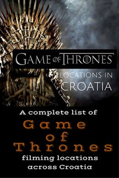 Get the low down on the Game of Thrones locations in Croatia Anyone who is familiar with the popular HBO television series Game of Thrones will no doubt recognize significant portions of the Croatian landscape – without even knowing it. There are a number of Game of Thrones locations across the globe here are the ones in Croatia . Our Croatia Travel Blog is free and full of great guides and helpful tips.