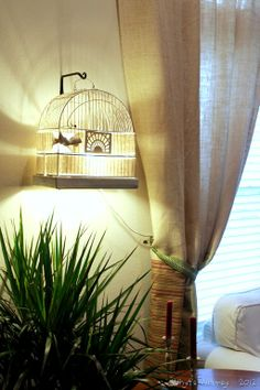 A cool, whimsical bird cage light, by Whyts Whimsy, featured on I Love That Junk - I NEED ONE!