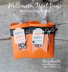 #stampinup Halloween treat bags plus periscope video #crazybscope More